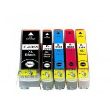 EPSON 33XL , T3351 , T3361 do T3364 , komplet 5 kompatibilnih kartuš