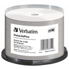 Verbatim DVD-R 16x 4.7 GB PRO White Thermal Printable, termalni, 50 kom