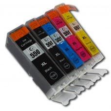 Canon kompatibilne PGI-550 XL , CLI-551 XL , komplet 5 kartuš s čipom