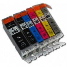 Canon kompatibilne PGI-550 XL , CLI-551 XL , komplet 6 kartuš s čipom