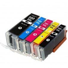 Canon 580 XXL / 581 XXL , PGI 580 - CLI 581 , komplet 5 kompatibilnih XXL kartuš