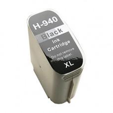 HP 940BK XL, kompatibilna črna kartuša s čipom 69ml