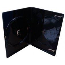 Amaray DVD škatlica 14MM za 2 DVDja, črna, 50 kom