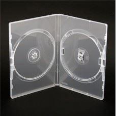 Amaray DVD škatlica 14MM za 2 DVDja, prozorna, 50 kom