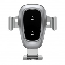 Baseus gravity brezžični QI polnilec in univerzalni nosilec za pametne telefone - silver