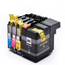 Brother kompatibilne LC529 XL , LC525 XL , DCP-J100 / DCP-J105 / MFC-J200 , komplet 4 kartuše