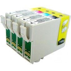 EPSON T0615 , T0611 do T0614 , komplet 4 kompatibilne kartuše