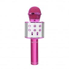 Mikrofon Maxlife MX-300 z bluetooth zvočnikom, za karaoke, roza