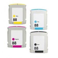 HP 88 , HP88 XL, komplet kompatibilnih XL kartuš, 4 kom
