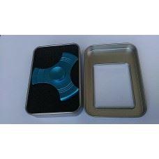 Fidget spinner ročna vrtavka aluminium, metalic modra barva