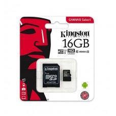 Kingston microSDHC 16GB, UHS-I, class10 z adapterjem