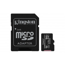 Kingston kartica 64GB Canvas Select Plus microSDXC C10 UHS-I + SD Adapter