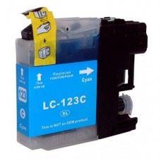 Brother kompatibilna LC123C Cyan, modra kartuša, 10ml