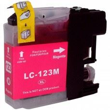 Brother kompatibilna LC123M Magenta, rdeča kartuša, 10ml