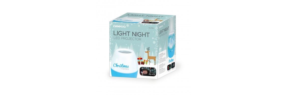 Omega LED nočni projektor