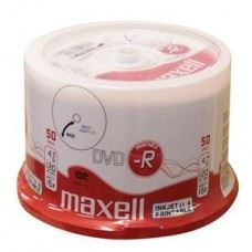Maxell DVD-R 16x 4.7GB Full Surface White Printable, 50 kom