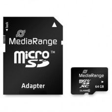 microSDHC C10 in SD Adapter, 64GB