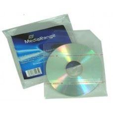 MediaRange samolepilni prozorni PVC ovitki z zavihkom za CD/DVD/Blu Ray, 50 kom