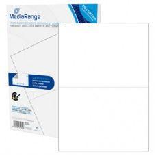 MediaRange večnamenske samolepilne etikete, A5, 210x148.5mm, bele, 100 nalepk