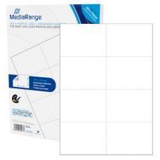MediaRange večnamenske samolepilne etikete, 105 x 74mm, bele, 400 nalepk