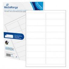 MediaRange večnamenske samolepilne etikete, 99,1mm x 33,19mm, bele, 800 nalepk