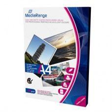 MediaRange foto papir dvostranski A4, mat 250g, 45 listov, odprta embalaža