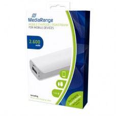 MediaRange Power Bank mobilna baterija 2600 mAh + micro USB kabel