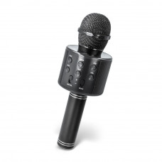 Mikrofon Maxlife MX-300 z bluetooth zvočnikom, za karaoke, črna