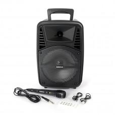 Omega bluetooth zvočnik OG84 z LED osvetlitvijo, 20W RMS, karaoke, FM radio + mikrofon