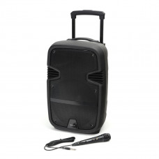 Omega bluetooth zvočnik PMG220 z LED osvetlitvijo, karaoke, FM radio + mikrofon
