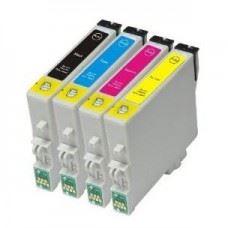 EPSON T0555 , T0551 do T0554 , komplet 4 kompatibilne kartuše