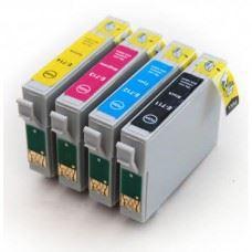EPSON T0715 , T0711 do T0714 , 4 kompatibilne kartuše - komplet