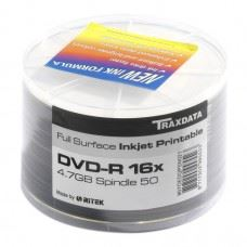 Traxdata DVD-R 16x 4.7GB Full Surface White Printable, 50 kom