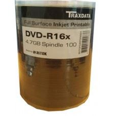 Traxdata DVD-R 16x 4.7GB Full Surface White Printable, 100 kom