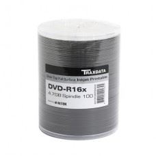 Traxdata DVD-R 16x 4.7 GB Full Surface Silver Printable, 100 kom