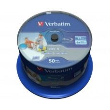 Verbatim BD-R 6x 25GB Full Surface White Printable, 50 kom