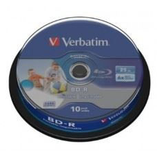 Verbatim BD-R 6x 25GB Full Surface White Printable, 10 kom