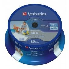 Verbatim BD-R 6x 25GB Full Surface White Printable, 25 kom