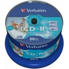 Verbatim CD-R 52x 700MB Full Surface White Printable, 50 kom