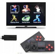Brezžična retro igralna konzola na HDMI z 628 iger + 2 brezžična kontrolerja