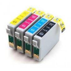 EPSON T0715 , T0711 do T0714 , komplet 4 kompatibilne kartuše