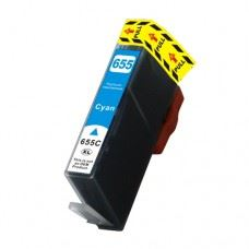 HP 655 C, kompatibilna modra kartuša