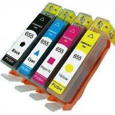 HP 655 BK / HP 655 C / HP 655 M / HP 655 Y , komplet 4 kompatibilne kartuše