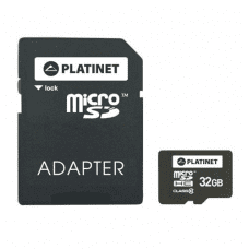 PLATINET Micro-SD 32GB C10 in SD Adapter