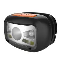 Naglavna LED svetilka z vgrajeno polnilno baterijo 1200mAh , senzor gibanja