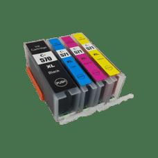 Canon 570XL 571XL set , PGI-570XL , CLI-571XL , komplet 4 kompatibilnih XL kartuš s čipom