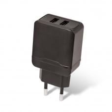 Stenski polnilec 2x USB 2.4A hitro polnjenje